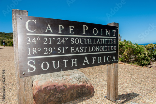 Fotografering  Cape Point sign, Cape of Good Hope, South Africa