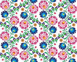 FototapetaSeamless folk Polish pattern - wzor lowicki