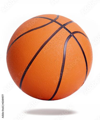 In de dag Bol Orange basketball isolated over white background