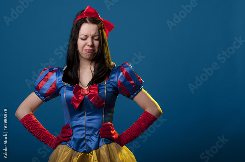 Fotografie, Obraz  Snow white unhappy