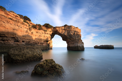Obraz na plátně  Praia turística no Algarve