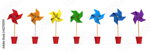 Colored Pinwheel Fototapet