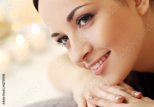 Beautiful brunette relaxing