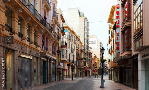 City street of Castellon, Spain