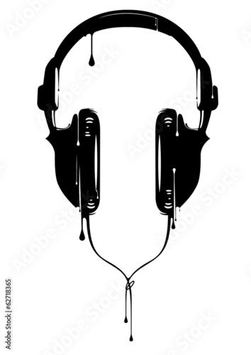 Obraz premium Malowane słuchawki