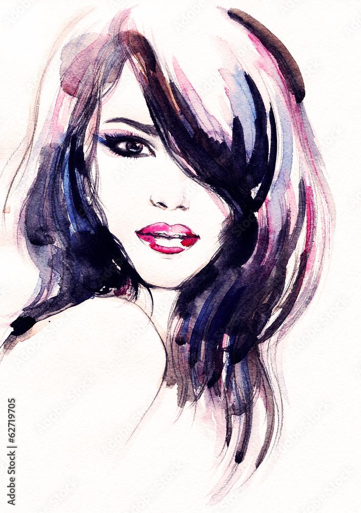 abstrakcyjny portret kobiety