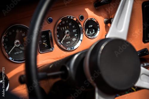 Fotomural Interior retro del coche de la vendimia