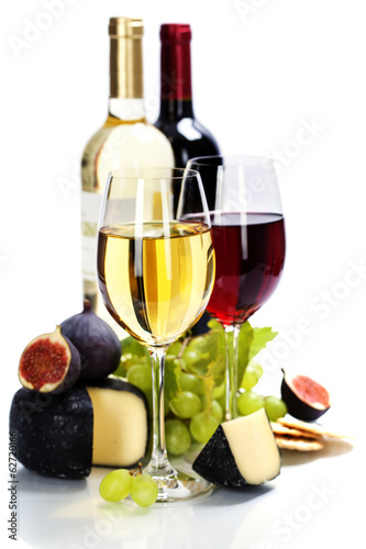 Papiers peints Vin Wine, grape and cheese