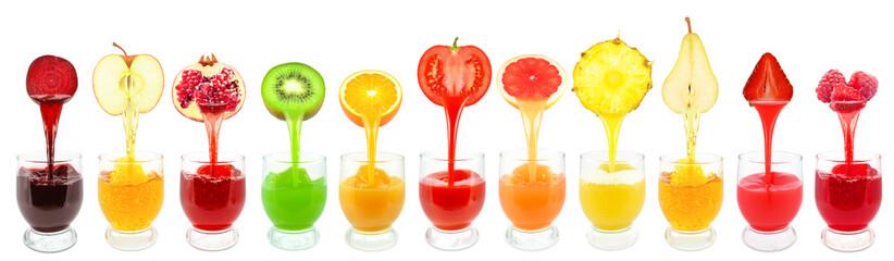 Panel Szklany fruit juices