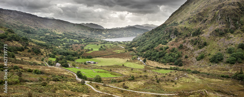 Foto op Aluminium Nachtblauw Panorama landscape Snowdonia National Park Wales United Kingdom