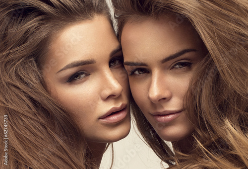 Portrait of two beautiful women