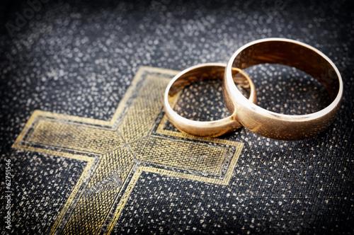 Marriage (macro photo) Billede på lærred