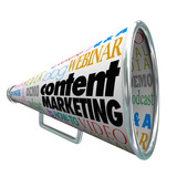 Content Marketing Bullhorn Megaphone Audience Customer Outreach