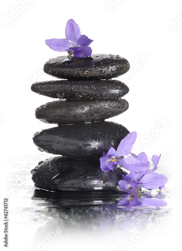 Fototapety, obrazy: spa stones with water drops