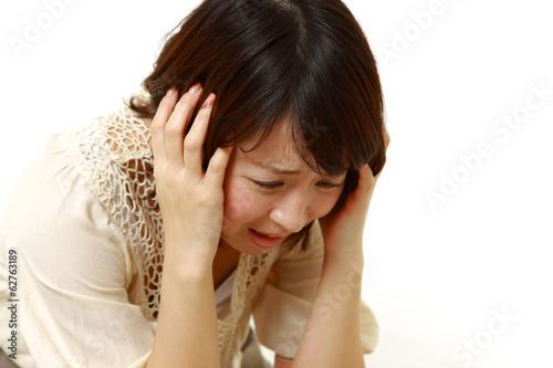 Fotografía  パニックに陥る女性