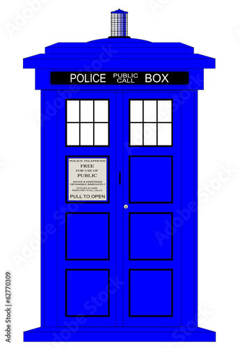 British Police Box Wallpaper Mural