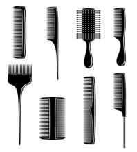 Combs Set. Vector