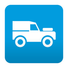 Etiqueta Tipo App Azul Simbolo Todoterreno