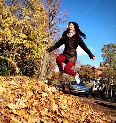Obraz na plátně  happy woman jumping