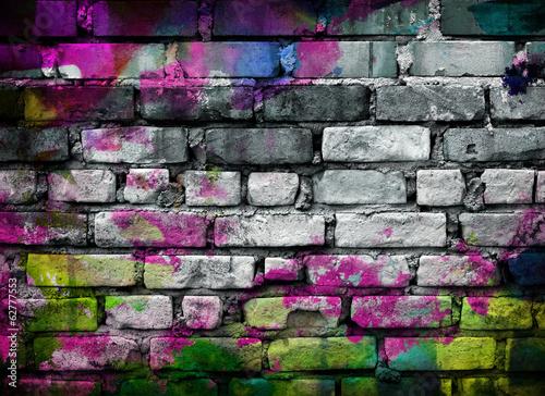 Poster Graffiti graffiti brick wall