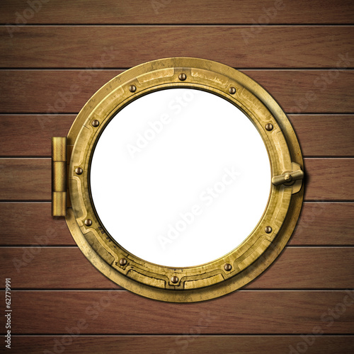 Canvas Prints Ship detailed wooden ship porthole