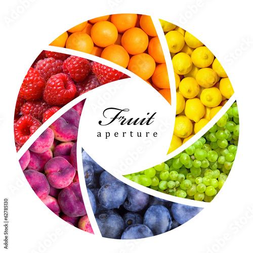 Poster Vruchten fruit backgrounds as a shutter - healthy eating concept