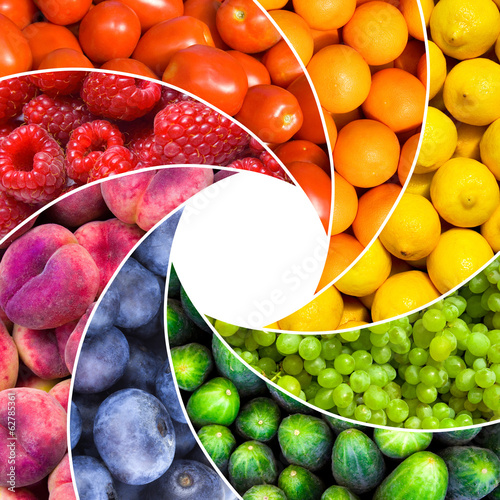 Poster Fruit fruit backgrounds as a shutter - healthy eating concept