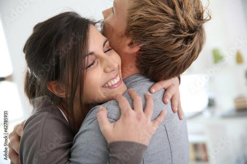 Fotografie, Obraz  Couple embracing, happy to get back together