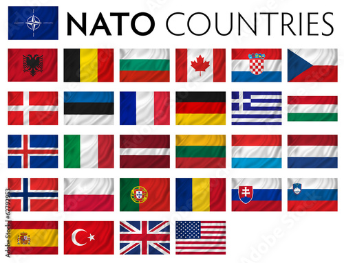 NATO memebr countries Wallpaper Mural