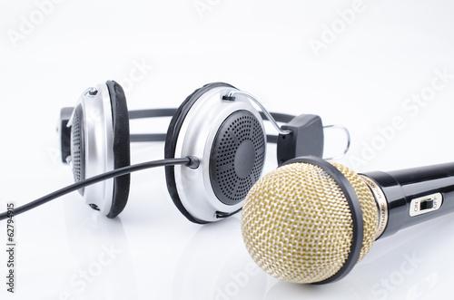 Fotografering  Microfon/Kopfhörer