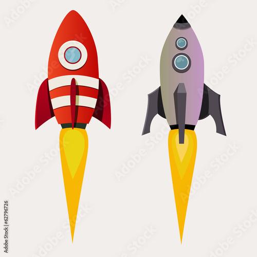 Aufkleber - rocket set