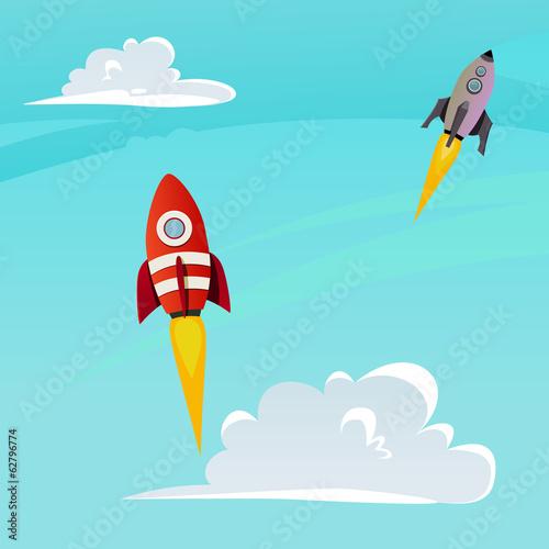 Aufkleber - rocket