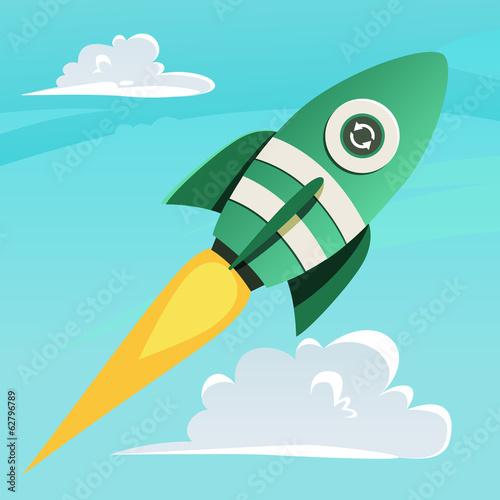 Aufkleber - eco-rocket