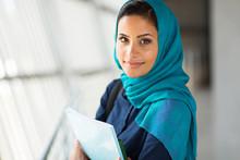 Pretty Muslim College Student