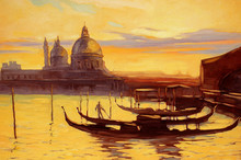 Decline To Venice, Painting,  ...