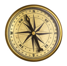 Simple Old Brass Nautical Comp...
