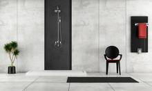 Minimalist Bathroom With Shower