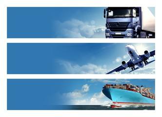 Fototapeta Logistics Banner