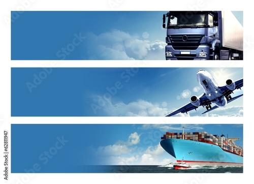 Logistics Banner Slika na platnu