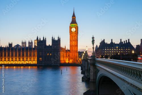 Foto op Canvas Praag Big Ben at night, London, United Kingdom.