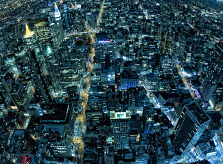 Panel SzklanyNew York night view panorama cityscape