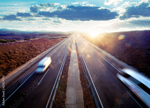 Fotografiet  Transporte por carretera. Seguridad vial.; Reparto de mercancia