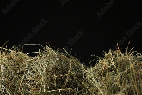 Stampa su Tela Hay on dark background