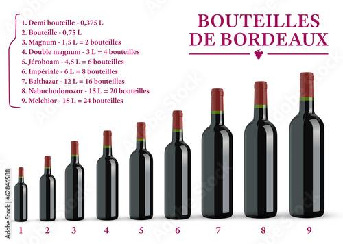 Tailles des Bouteilles de Bordeaux Canvas Print