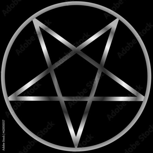 Photo  Pentacle- Religious symbol satanism
