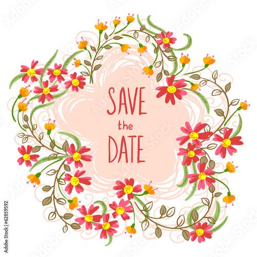 Poster Hibou Floral card