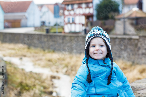 Portrait of little boy of two years outdoor Poster Mural XXL