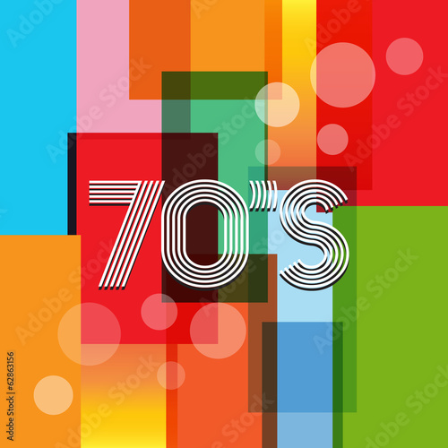 Poster  70s Vector Retro Art Background