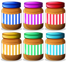 Six Jars Of Peanut Butters