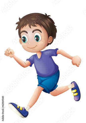 Tuinposter Vlinders A young gentleman running
